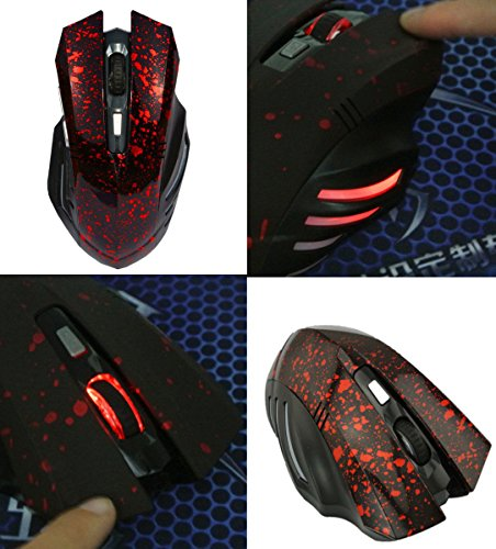 [Gaming Mouse New Wireless Mouse Mice 2000DPI 6D Button Optical Ergonomic For PC Laptop MS1-R Gamer] (Xbox Costume Quest)