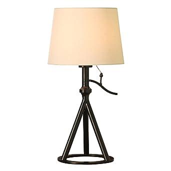 LRW Die Schlafzimmer Lampe Nachttischlampe American Minimalist Modern  Nordic Black Country Wohnzimmer Warm Eisen Lampe