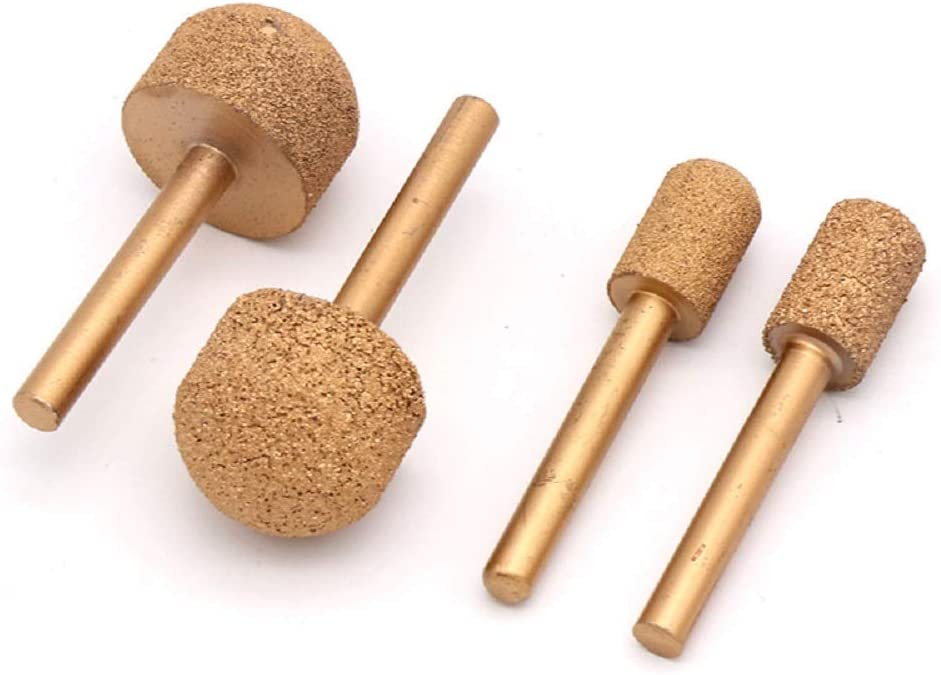 DeWalt Milwaukee 20mm, Ball Head Makita.Head Diameter 12mm-25mm 46# Chambridge 6mm Shaft Diamond Rotary Grinding Head Burr Drill Bits Sets Coarse//Fine for Bosch