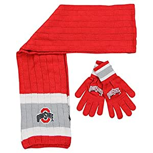 Amazon.com: Ohio State Buckeyes Winter Scarf & Glove Set