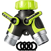 VicTsing Y Hose Connector, 2 Way Hose Splitter with 3/4 Connector and Sturdy Construction for Garden and Home Life (4 Free Washers)