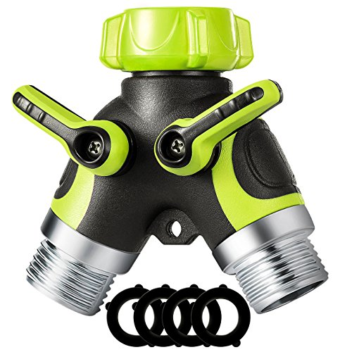 """VicTsing Y Hose Connector, 2 Way Hose Splitter with 3/4"""" Connector and Sturdy Construction for Garden and Home Life (4 Free Washers)"""