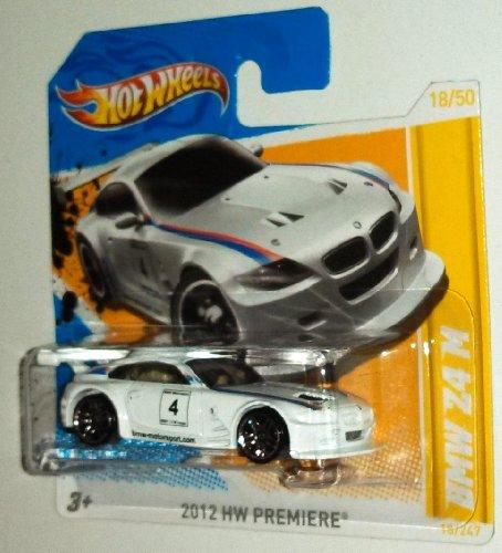 Hot Wheels White BMW Z4 M #18 - Short Card - PR5 Wheels