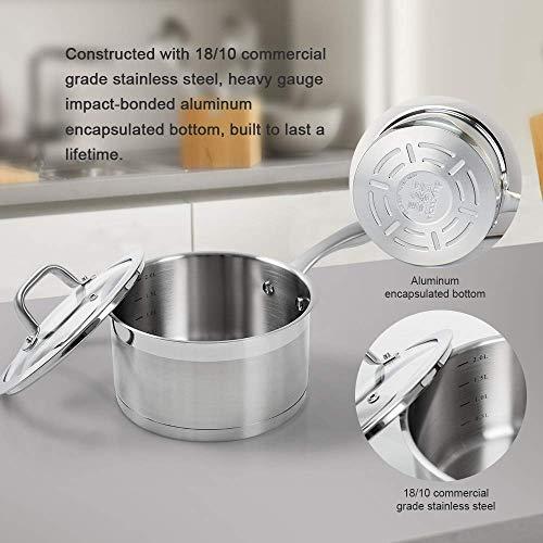 Duxtop inducción batería de cocina profesional de acero ...