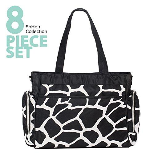 SoHo diaper bag Little Giraffe 8 pieces set nappy tote bag l