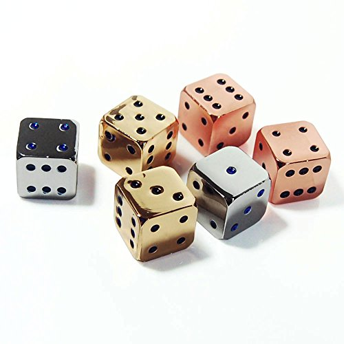Custom Dice - D6 16mm Metal Alloy Custom & Unique Dice - Highly Polished Premium Edition (Gold, Sliver, Bronze)