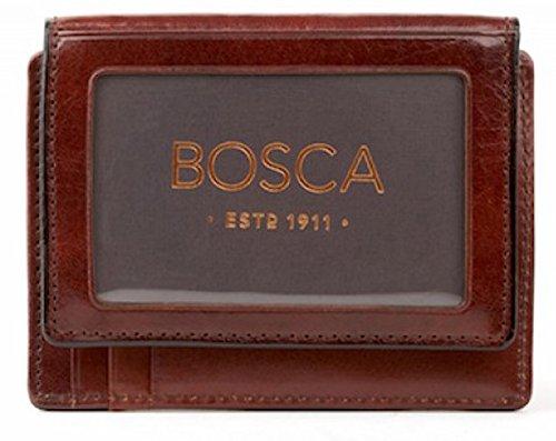 Bosca Dark Brown Old Leather Front Pocket ID Wallet (Front Slot Pocket)