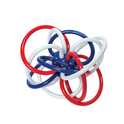 Teether Toy Developmental - Manhattan Toy Red, White, and Blue Winkel Rattle and Teether Baby Toy