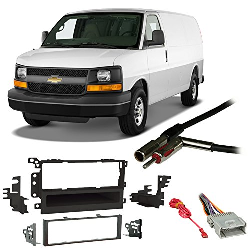 - Fits Chevy Express Van 01-02 Single DIN Stereo Harness Radio Install Dash Kit