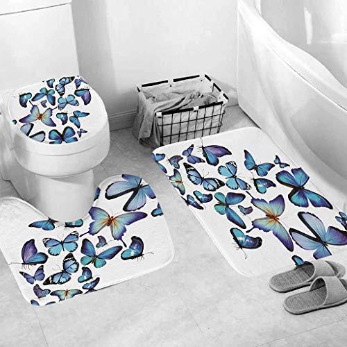 - Tpingfe 3pcs Non-Slip Fish Scale Bath Mat Bathroom Kitchen Carpet Doormats Decor (B)