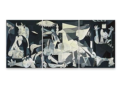 Niwo Art - Guernica, World's Most Famous Paintings Series, Canvas Wall Art Home Decor, Gallery Wrapped, Stretched, Framed Ready to Hang (18