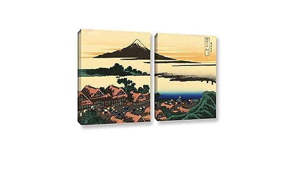 Amazon Com Artwall Katsushika Hokusai S Dawn At Isawa In The Kai Province 2 Piece Gallery Wrapped Canvas Set Artwork 18 X 28 Posters Prints