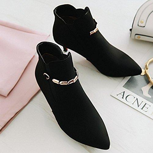 Big Lace Black Size 4 Boots up Ankle Melady Fashion Women IPxwYZ
