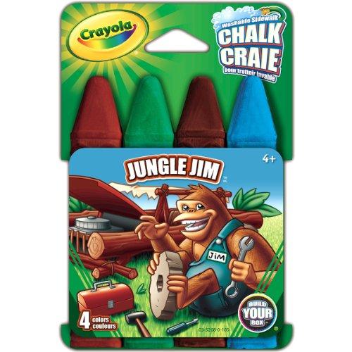Crayola Build Your Box Jungle Jim Chalk (4 Count)