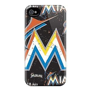 Shock-Absorbing Hard Phone Cases For Iphone 6plus (rir14130HtgP) Customized Lifelike Miami Marlins Pattern