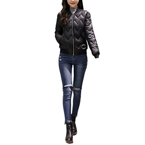 Zhhyltt Caliente para el invierno Autumn Winter New Thin Cotton Dress Short Korean Jacket Fashion Ba...