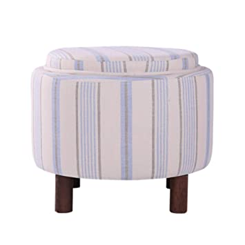 Cool Amazon Com Grjxmd Round Ottoman Storage Stool With Sponge Pabps2019 Chair Design Images Pabps2019Com