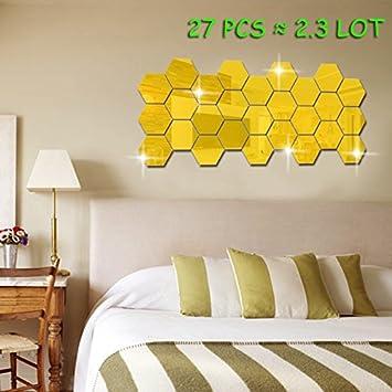 Amazon.com: JMHWALL 3D Hexagonal 12 Piece Wall Decoration Acrylic ...
