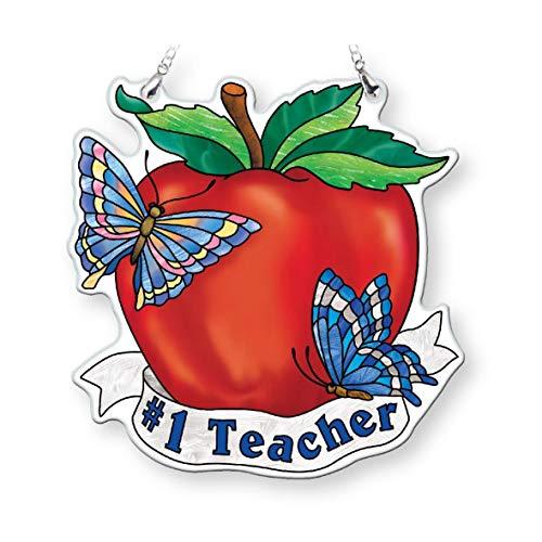 Amia #1 Teacher Apple, Glass Suncatcher Multicolored ()