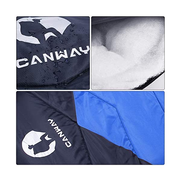 CANWAY Sleeping Bag with Compression Sack, Lightweight and Waterproof for Warm & Cold Weather, Comfort for 4 Seasons Camping/Traveling/Hiking/Backpacking, Adults & Kids 5