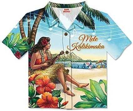 Vintage Hawaii Hula Girl Die-Cut Aloha Shirt-Shaped Christmas Cards / Box of 8 Cards