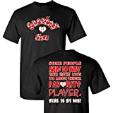Baseball Mom's Favorite Player on a Black Short Sleeve T Shirt
