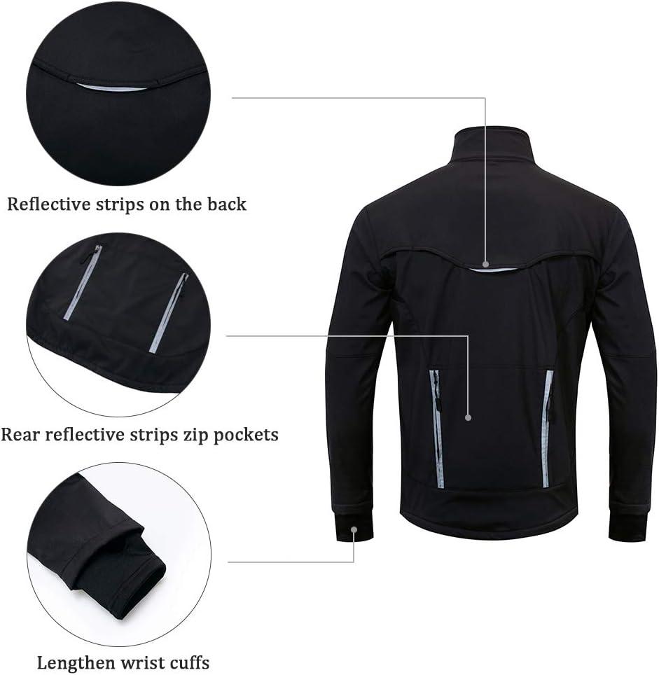 I Kua Fly Hommes Veste de Cyclisme pour VTT Hiver Coupe-Vent Veste Thermique Respirant Sportwear
