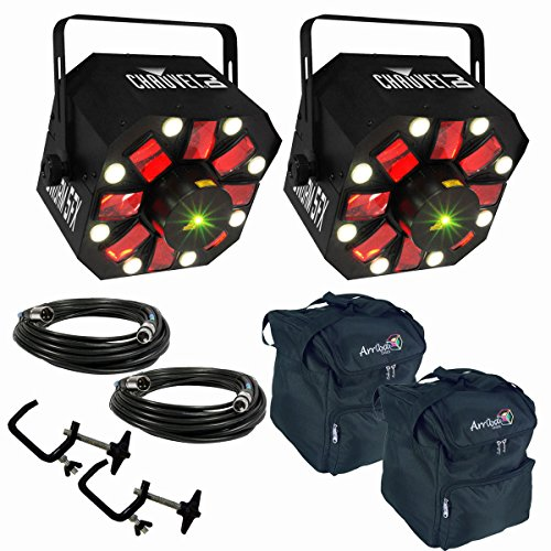 Chauvet Swarm 5 FX LED/Laser Effects Lights w/ Bags, DMX Cables and Clamps by Chauvet