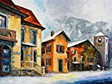 Switzerland Town In The Alps is a Limited Edition print from the Edition of 400. The artwork is a hand-embellished, signed and numbered Giclee on Unstretched Canvas by Leonid Afremov. Embellishment on each of these pieces will be slightly different, ...