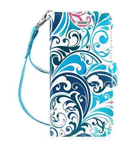 iPhone 7 Plus Case, FYY [RFID Blocking wallet] 100% Handmade Wallet Case Stand Cover Credit Card Protector for iPhone 7 Plus Pattern 16