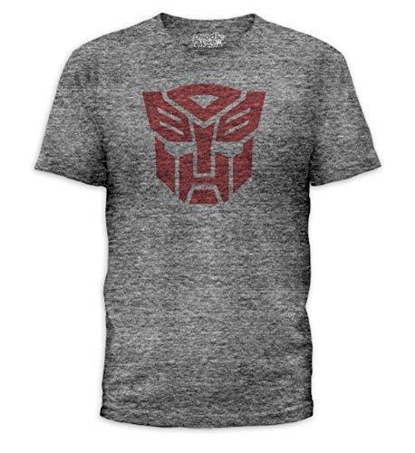 Transformers Autobots Logo Adult Heather Gray T-Shirt (Adult X-Large)