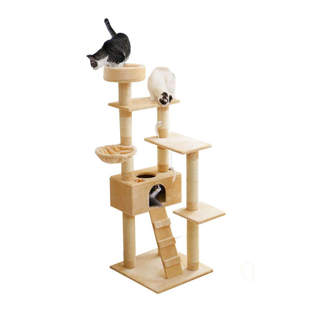 elementi di novità Mobili Mobili Mobili per condomini Cat Tree Multi-Level Deluxe e Rope Kitten Activity Tower Pet Kitty Play House con tiragraffi Amaca Amaca  sconto