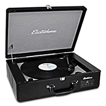 Electrohome Archer Vinyl Record Player Classic Turntable Stereo System with Built-in Speakers, USB for MP3s, Headphone Jack, AUX Input for Smartphones, Tablets, (EANOS300)