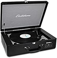 Electrohome Archer Vinyl Record Player Classic Turntable Stereo System with Built-in Speakers, USB for MP3s, Headphone Jack, AUX Input for Smartphones, Tablets (EANOS300)