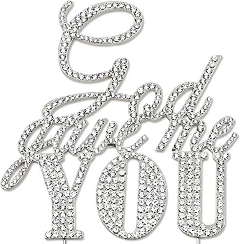 (God Gave Me You Cake Topper, Religious Wedding Anniversary Engagement Decorations, Crystal Rhinestone Silver)