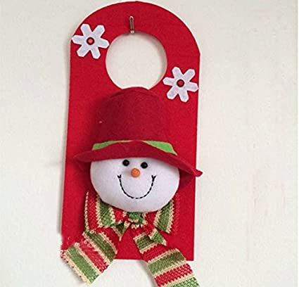 Adornos Decoración Muñeco De Nieve De Navidad Pintadas Para Puerta