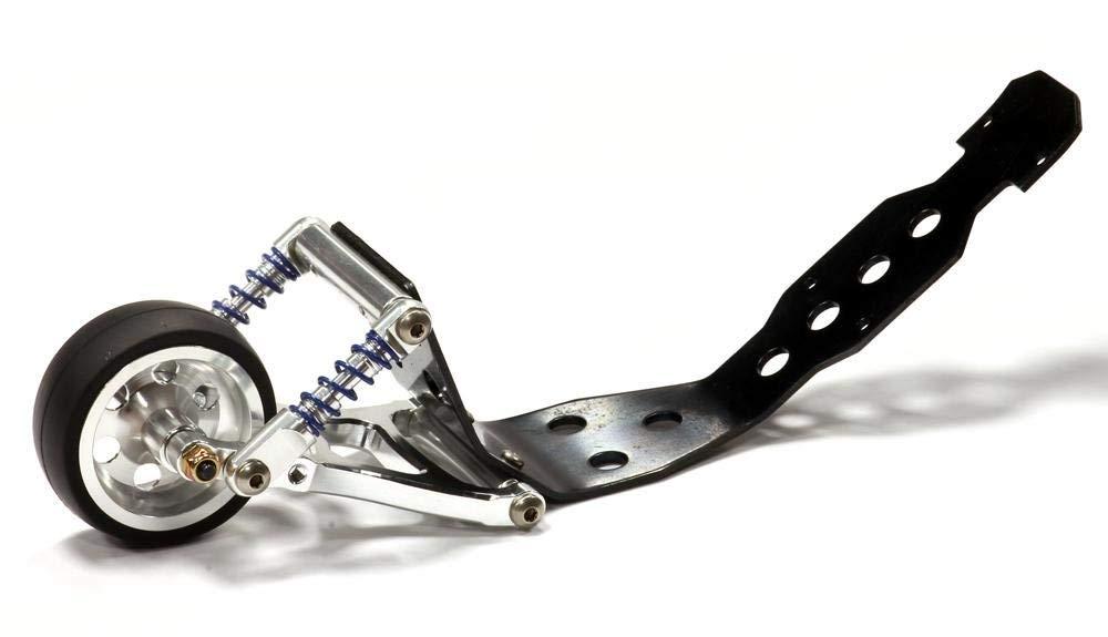 Integy RC Model Hop-ups T3277SILVER Alloy Wheelie Bar for Traxxas 1/10 Revo, Summit