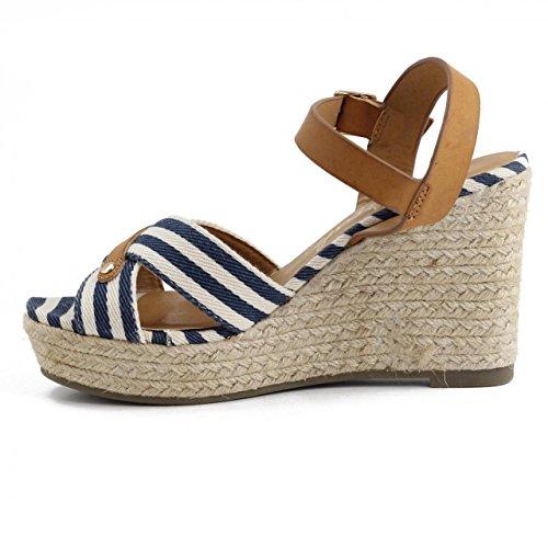 ... Schuhe keilabsatz für Damen REFRESH 62088 TEX NAVY ...