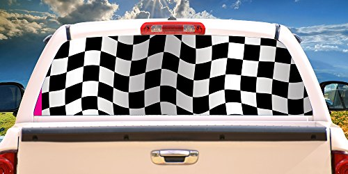 - SignMission Checkered Flag Rear Window Graphic Full Size Pickup Truck Film