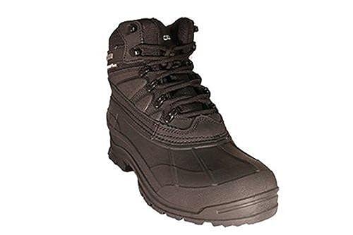 bd02962b8bd3 Zanco Men s Extra Wide Width Waterproof Black Leather Boots  3701 (6 ...