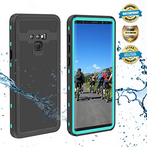 Effun Samsung Galaxy Note 9 Waterproof Case, IP68 Certified Shockproof Snowproof Dustproof Full Body Protection Underwater Cover with Built-in Screen Protector for Samsung Galaxy Note 9 Aqua Blue