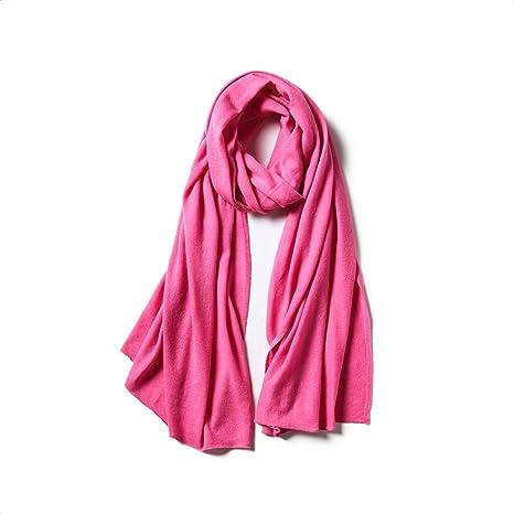 Bufanda Mujer Abrigos Mantón Bufandas Sarong Manta Calentador De Cuello Estola Larga Cabo Cachemira Color Sólido