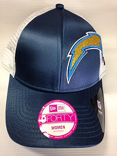 Era Satin Hat - San Diego Chargers Women's Glitzer Satin Hat