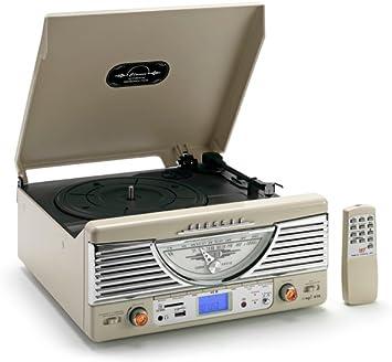 Classic Phono TT-32 - Tocadiscos (USB, mando a distancia, 3.5 mm ...