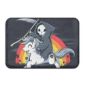 Muerte Es Magic Unicorn reutilizable antideslizante alfombrilla de baño