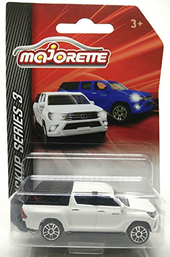 Fonza Toyota Hilux Revo White - Series 3 - 1/64 Scale Diecast Car - Scale 1:58 / 3 inches Car - MJ Ref 292K - Wheels D5S - in Long Package Style