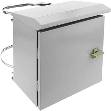 BeMatik - Caja de distribución eléctrica metálica con protección IP65 para fijación a Poste 300 x 300 x 200 mm: Amazon.es: Electrónica