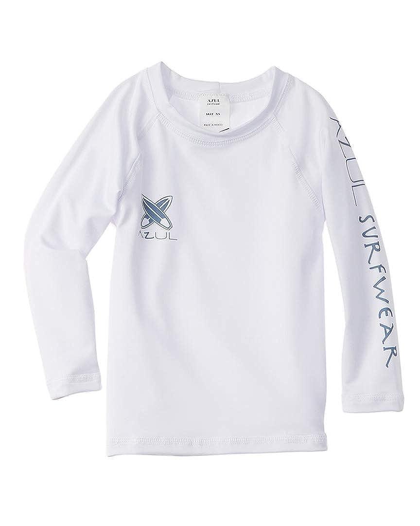 Azul White Long Sleeve Rashguard