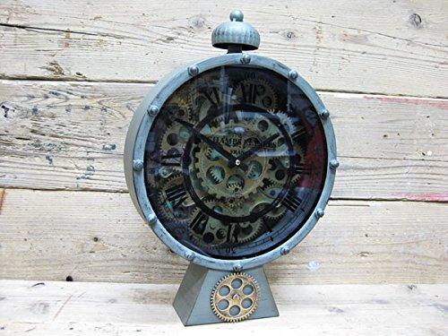 機械式の置時計(GEAR CLOCK/ギアクロック)機械式時計 ティンスタンドクロック/メイアル置時計/インテリア時計 ラピタ ビンテージ ヒストリック アンティーク インテリア雑 アメリカン雑貨 ガレージ B01172COMQ