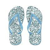 CafePress Blue Silver Glitter Sequin Flip Flops Wedding - Flip Flops, Funny Thong Sandals, Beach Sandals